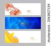 modern blue red yellow green... | Shutterstock .eps vector #2063827154