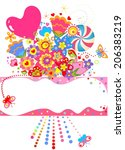 abstract greeting bouquet | Shutterstock .eps vector #206383219
