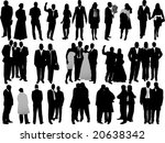 variety business people... | Shutterstock .eps vector #20638342