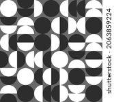 bauhaus abstract pattern in... | Shutterstock .eps vector #2063859224