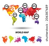 world map geometric concept... | Shutterstock .eps vector #206387689
