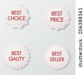 set of vector paper labels | Shutterstock .eps vector #206388361