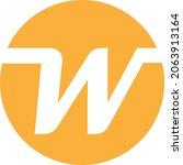 letter w logo design  no... | Shutterstock .eps vector #2063913164