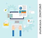element of business process... | Shutterstock .eps vector #206391865
