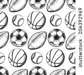 sketch soccer  american... | Shutterstock .eps vector #206392969