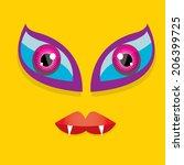 vector monster face | Shutterstock .eps vector #206399725