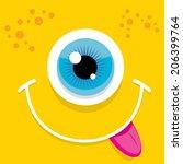 vector monster face | Shutterstock .eps vector #206399764
