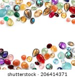 beautiful gems composition with ... | Shutterstock . vector #206414371