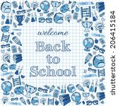 welcome back to school card.... | Shutterstock .eps vector #206415184