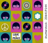 colorful pop art british... | Shutterstock .eps vector #206419144