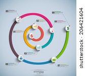 spiral timeline infographics | Shutterstock .eps vector #206421604