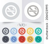 no smoking sign icon. cigarette ... | Shutterstock .eps vector #206423995