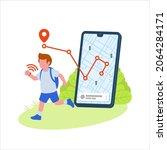 children location gps... | Shutterstock .eps vector #2064284171