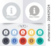 Help Point Sign Icon....