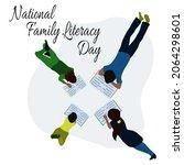 national family literacy day ... | Shutterstock .eps vector #2064298601
