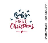 baby first christmas. family... | Shutterstock .eps vector #2064300344