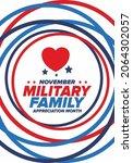 national military family month... | Shutterstock .eps vector #2064302057
