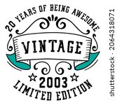 20 years of being awesome... | Shutterstock .eps vector #2064318071