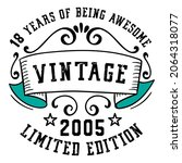 18 years of being awesome... | Shutterstock .eps vector #2064318077