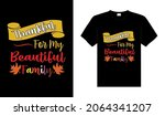 thankful for my beautiful... | Shutterstock .eps vector #2064341207