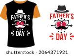 happy fathers day vector art  | Shutterstock .eps vector #2064371921