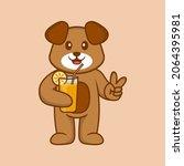 cute dog cartoon character... | Shutterstock .eps vector #2064395981