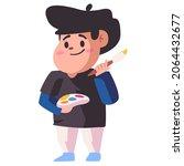 kids become painter holding... | Shutterstock .eps vector #2064432677