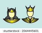 king and queen icon for... | Shutterstock .eps vector #2064445601