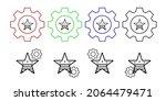 star favorite usa flag vector...