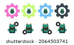 backpack  bag vector icon in...