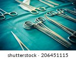 surgical instruments and tools... | Shutterstock . vector #206451115