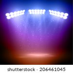 colorful stage lights... | Shutterstock .eps vector #206461045