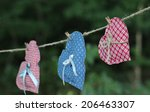three country hearts hanging on ... | Shutterstock . vector #206463307