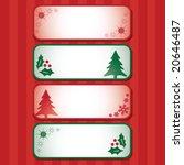 vector christmas banners. | Shutterstock .eps vector #20646487