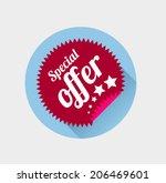 sticker in flat style....