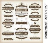 vintage vector design elements. ...   Shutterstock .eps vector #206471797