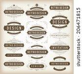 vintage vector design elements. ... | Shutterstock .eps vector #206471815