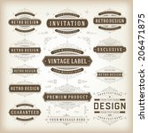 vintage vector design elements. ... | Shutterstock .eps vector #206471875