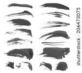 hand drawn black strokes... | Shutterstock .eps vector #206473075