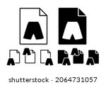 shorts vector icon in file set...