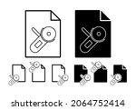 grinder vector icon in file set ...