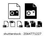 photo camera vector icon in...