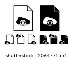 cloud adjustment vector icon in ...