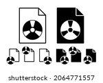 vinyl record vector icon in...
