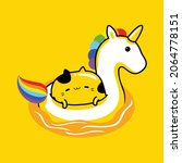 cute cat mascot character... | Shutterstock .eps vector #2064778151