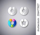 abstract vector emblem. element ... | Shutterstock .eps vector #206477827