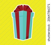 gift cartoon image isolated on... | Shutterstock .eps vector #2064786371