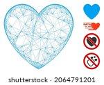 vector net love heart....   Shutterstock .eps vector #2064791201