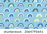 trendy seamless pattern with... | Shutterstock .eps vector #2064795641