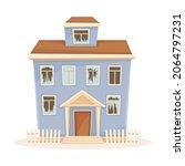 residential suburban cottage... | Shutterstock .eps vector #2064797231